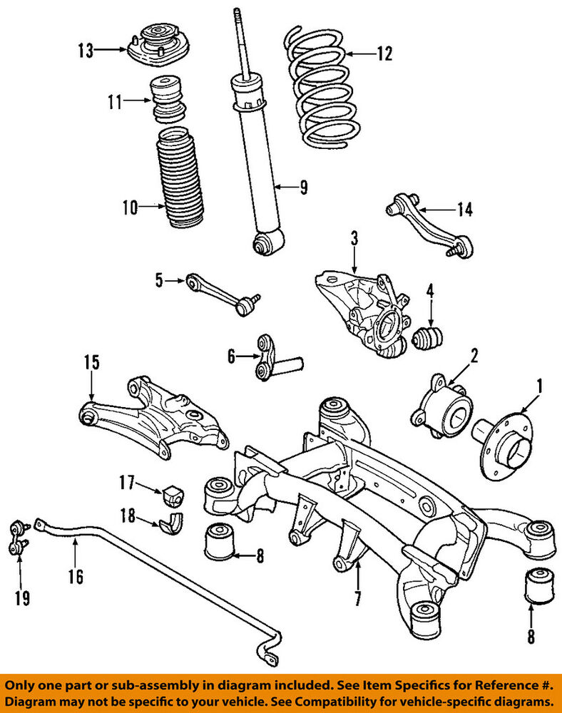 medium resolution of details about bmw oem 01 06 x5 rear suspension coil spring 33536750351