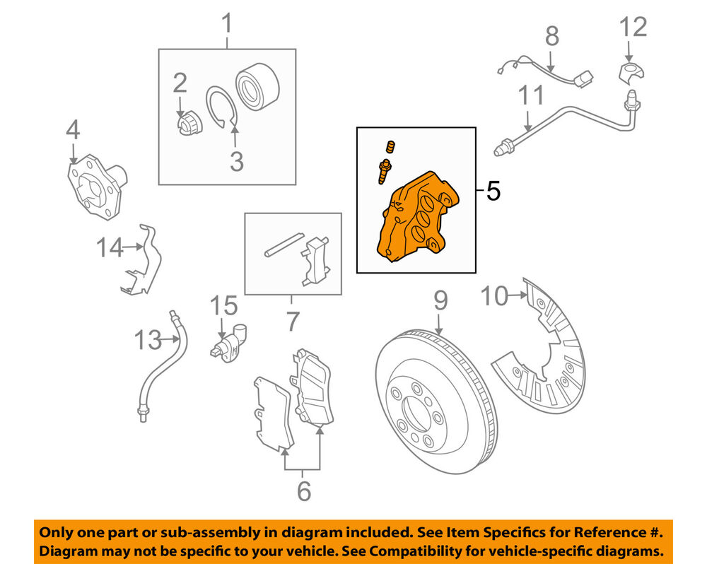 hight resolution of details about porsche oem 08 10 cayenne front disc brake caliper assy 95535142261