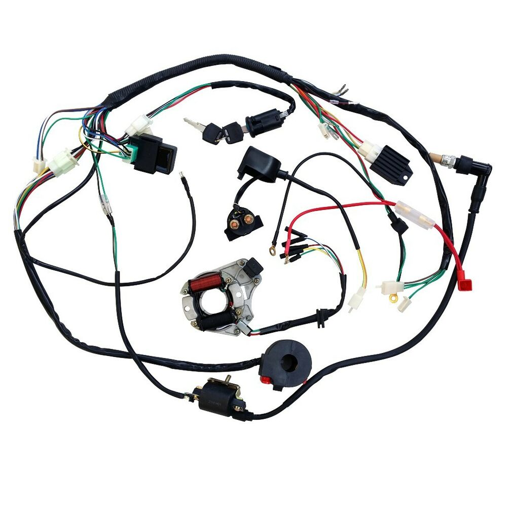 hight resolution of details about complete electrics wiring harness for chinese dirt bike atv quad 90cc 150cc au