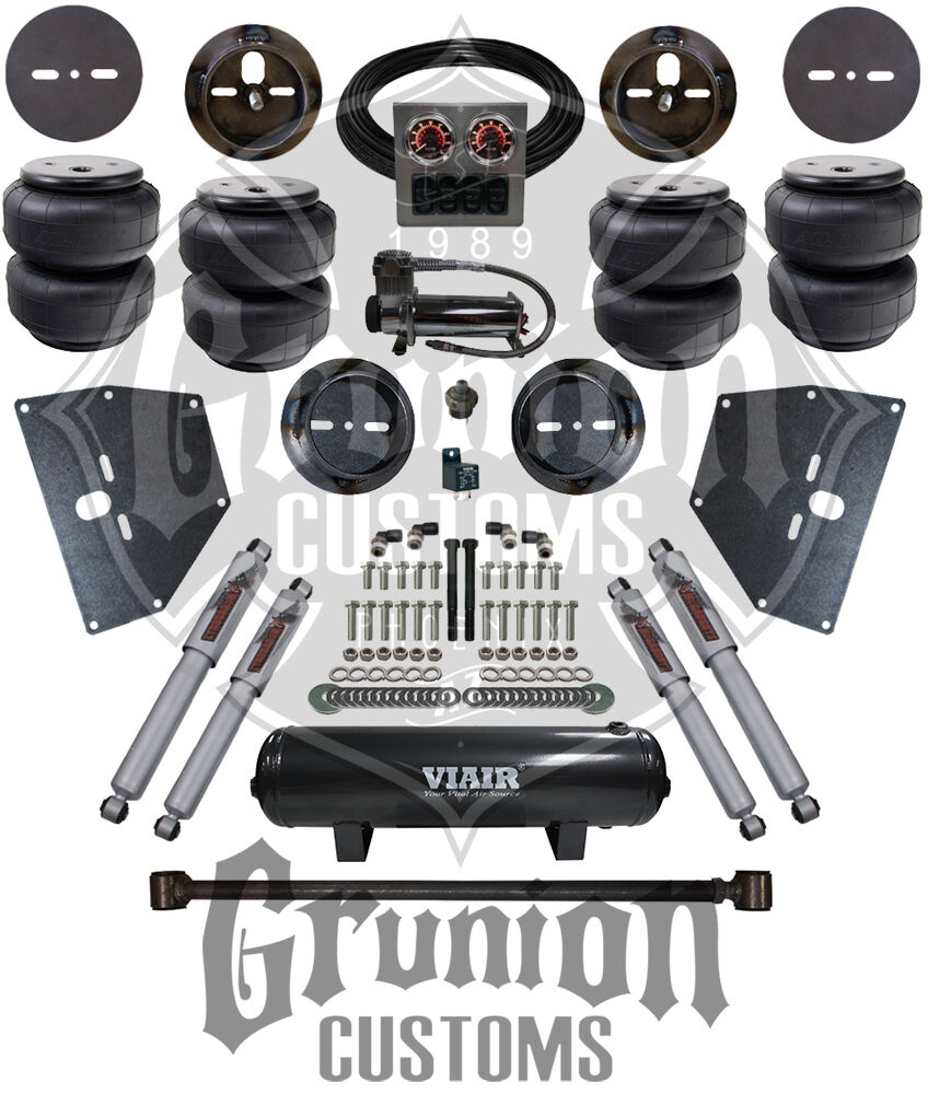 medium resolution of details about chevy c10 1963 64 front rear air bag suspension bolt on kit w dominator bags