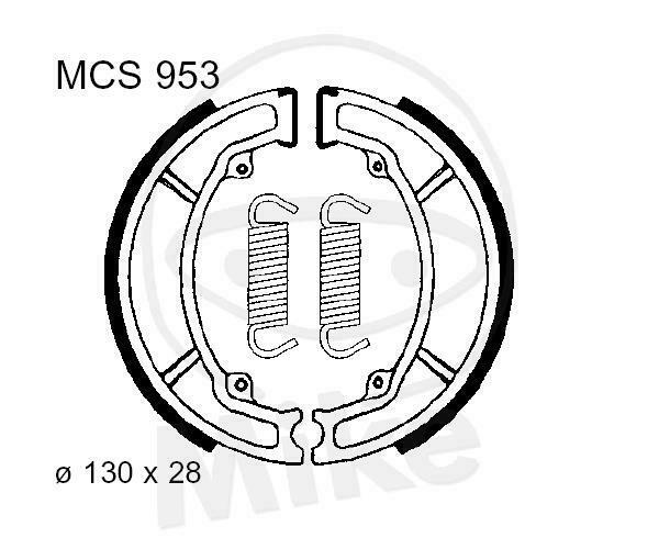 TRW Lucas Brake Shoes with Spring MCS953 Rear Rex Rs 125