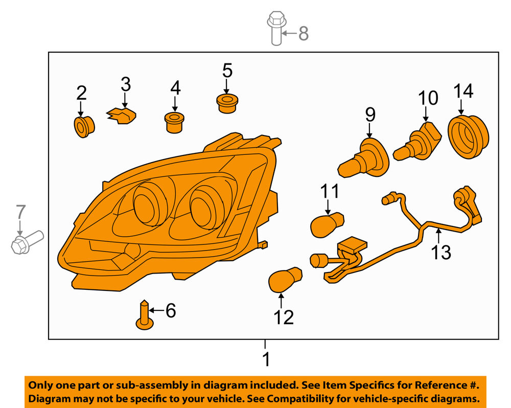 hight resolution of gmc oem acadia headlight ebay jpg 1000x798 gmc acadia headlight diagram