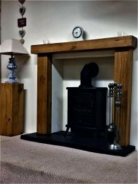 "Solid Rustic Oak Fire Surround (With 6"" x 4"" Mantel ..."