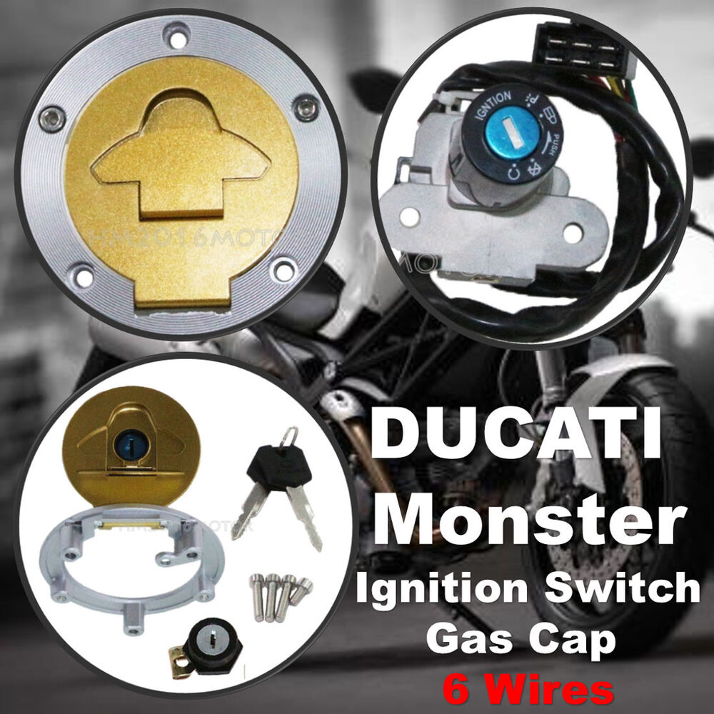 hight resolution of details about ignition switch gas cap cover seat lock for ducati monster 750 900 metallic dark