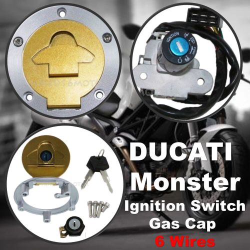 small resolution of details about ignition switch gas cap cover seat lock for ducati monster 750 900 metallic dark