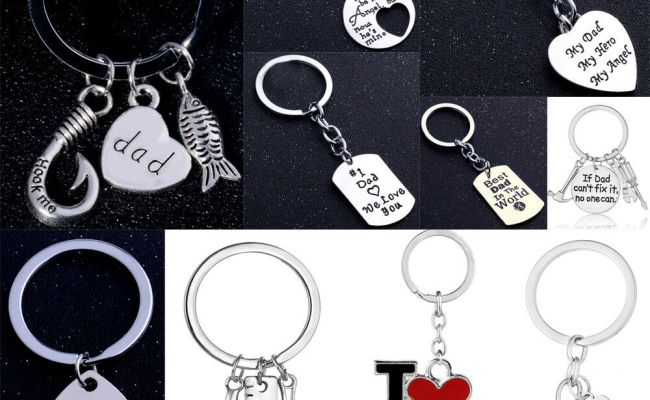 Family Charms Keyring Fathers Day Gifts For Dad Keychain