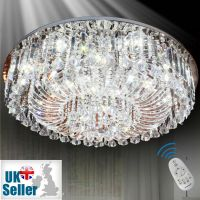 Genuine K9 Crystal Flush Ceiling Light Chandelier 3 ...