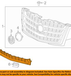 details about cadillac gm oem 2015 escalade esv grille lower 22996061 [ 1000 x 798 Pixel ]