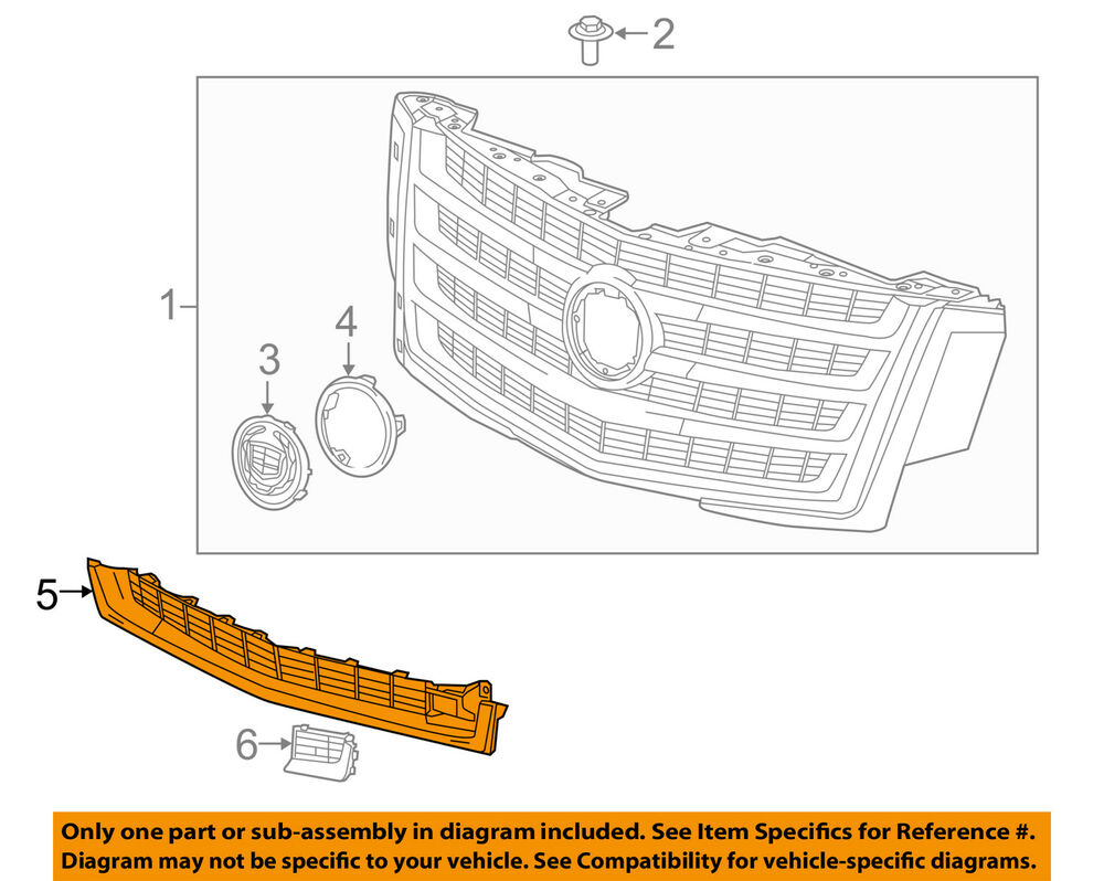 medium resolution of details about cadillac gm oem 2015 escalade esv grille lower 22996061