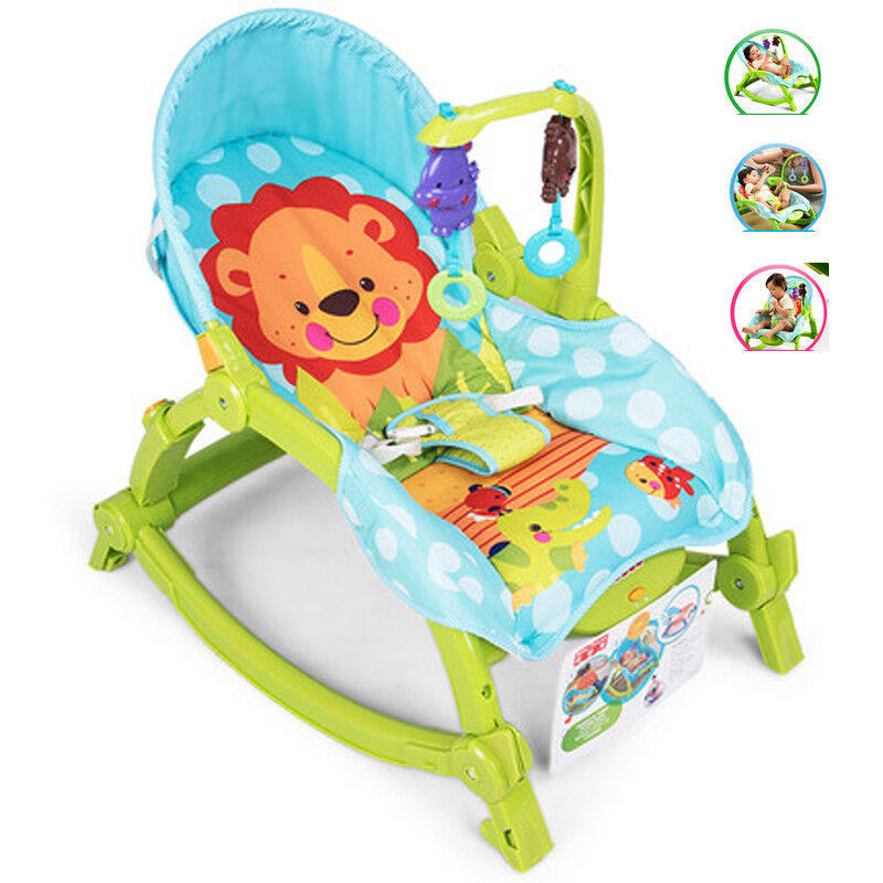 baby throne chair fabric club infant toddler music toys cradle rocker kid fold details about