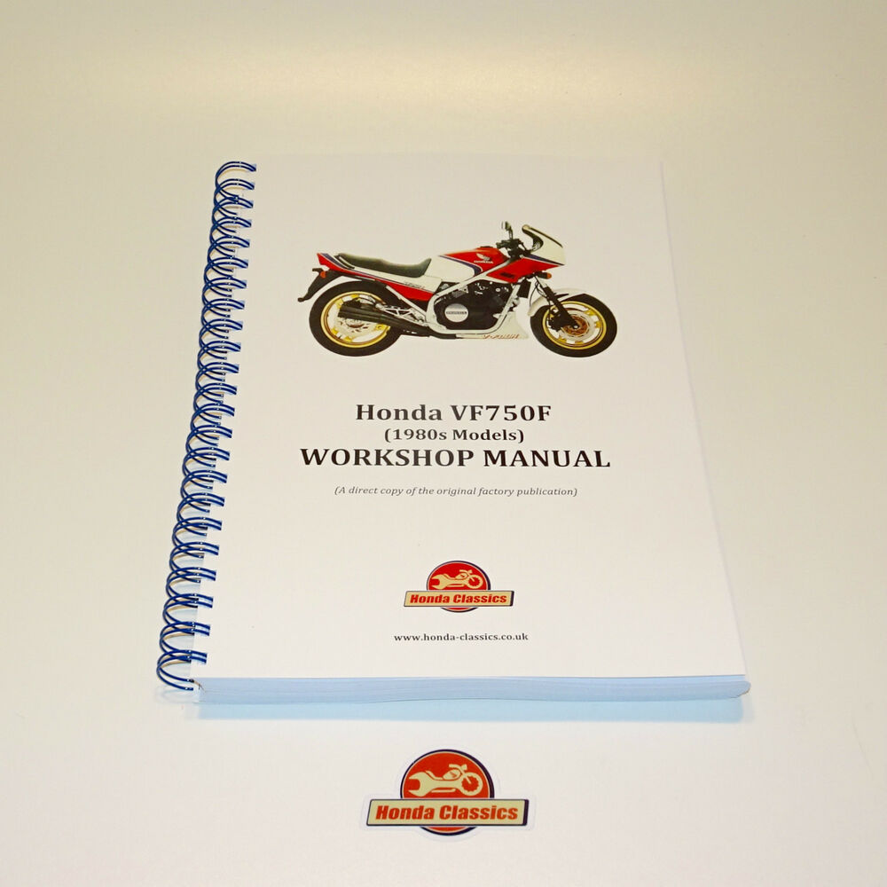 hight resolution of details about honda vf750f v4 1980s factory workshop shop manual book reproduction hwm046
