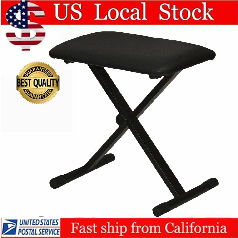 Keyboard Chair Black Piano Keyboard Folding Adjustable Padded Stool Chair Seat Bench Ma Ebay