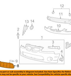 details about pontiac gm oem 04 06 gto grille lower 92120214 [ 1000 x 798 Pixel ]