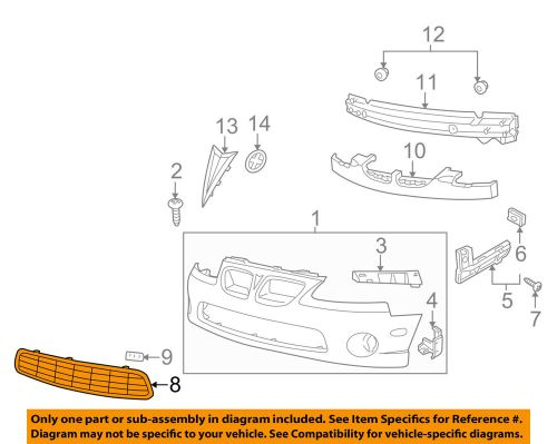 small resolution of details about pontiac gm oem 04 06 gto grille lower 92120214