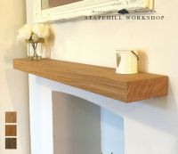 Solid Oak Floating Shelf Mantle Beam Fireplace Mantel