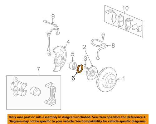 small resolution of details about honda oem brake front wheel bearing c clip 90681sr3a00