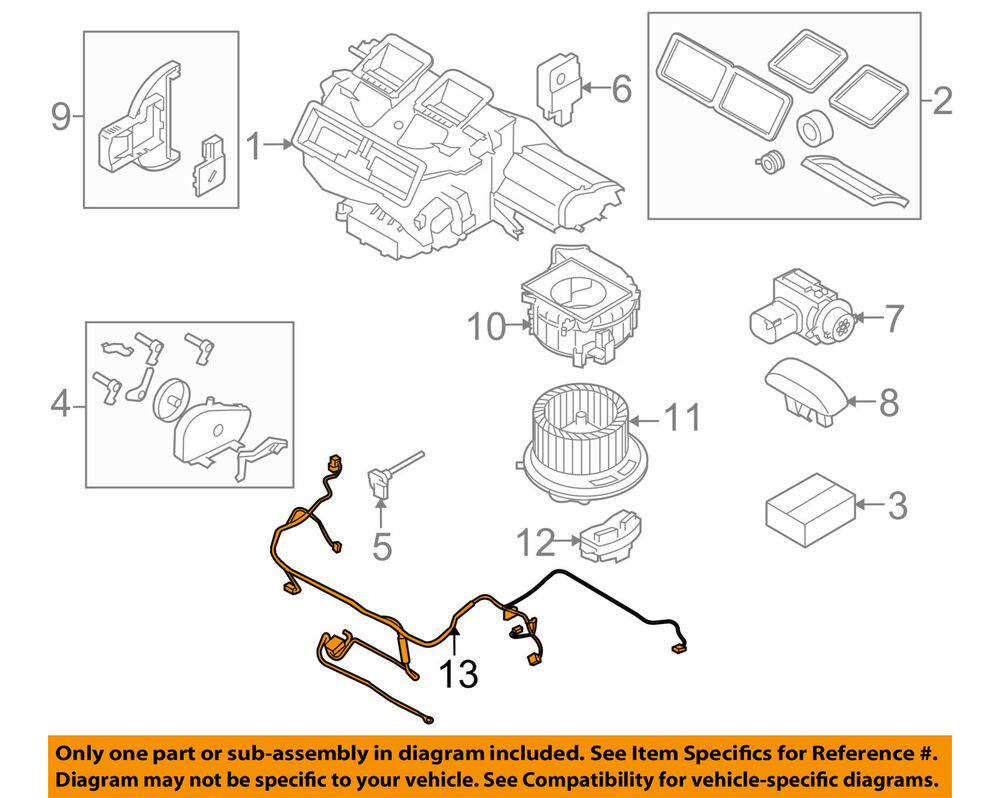 hight resolution of details about bmw oem 07 12 328i blower motor fan wire harness 64116932680