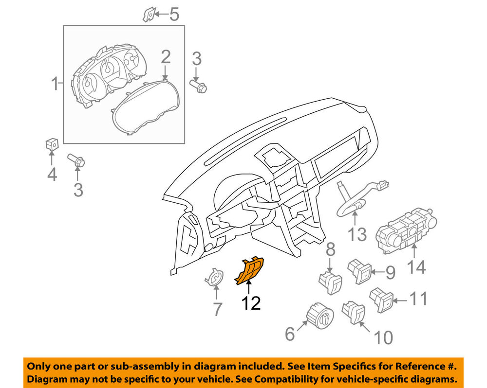 medium resolution of details about lincoln ford oem 10 12 mkz dash cluster switch switch panel ah6z5404338ad