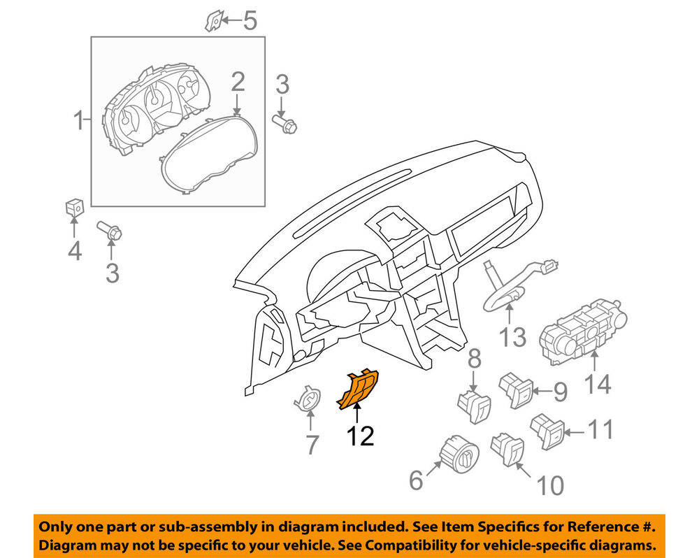 hight resolution of details about lincoln ford oem 10 12 mkz dash cluster switch switch panel ah6z5404338ad