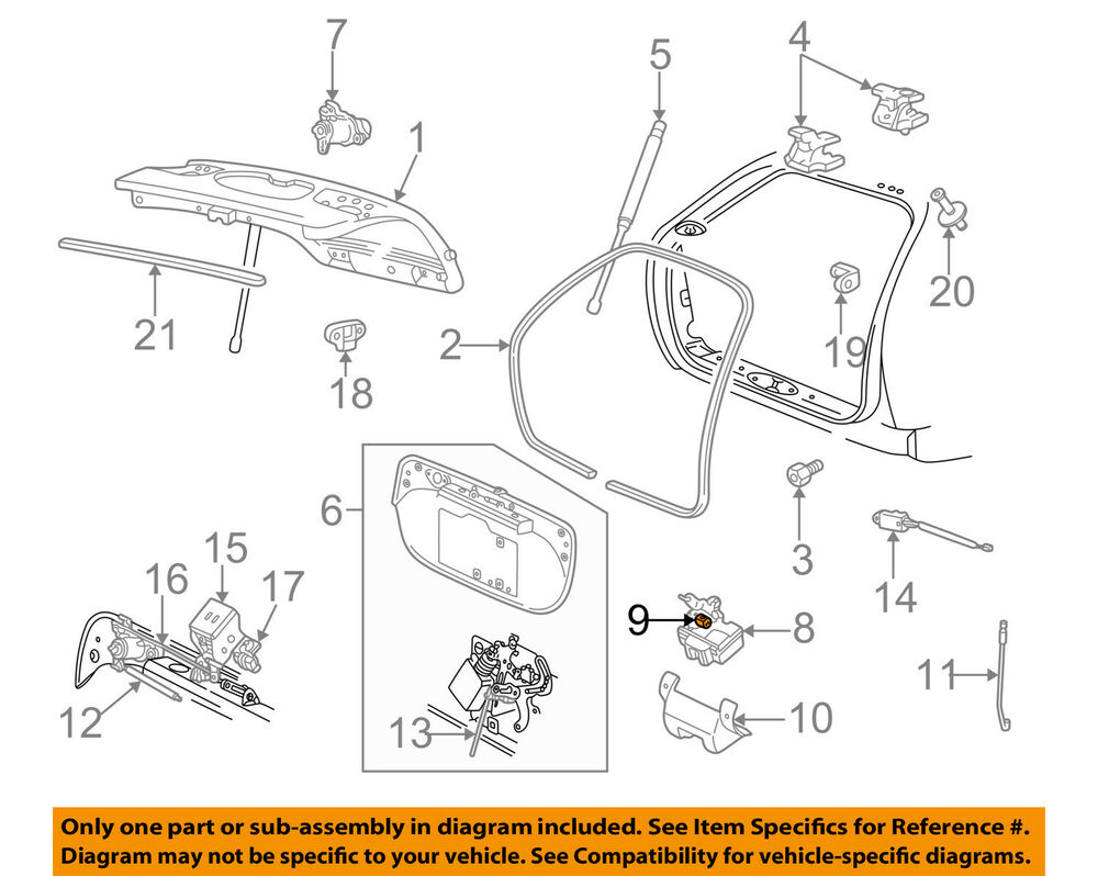 medium resolution of details about ford oem liftgate tailgate door ajar switch f1dz14018a