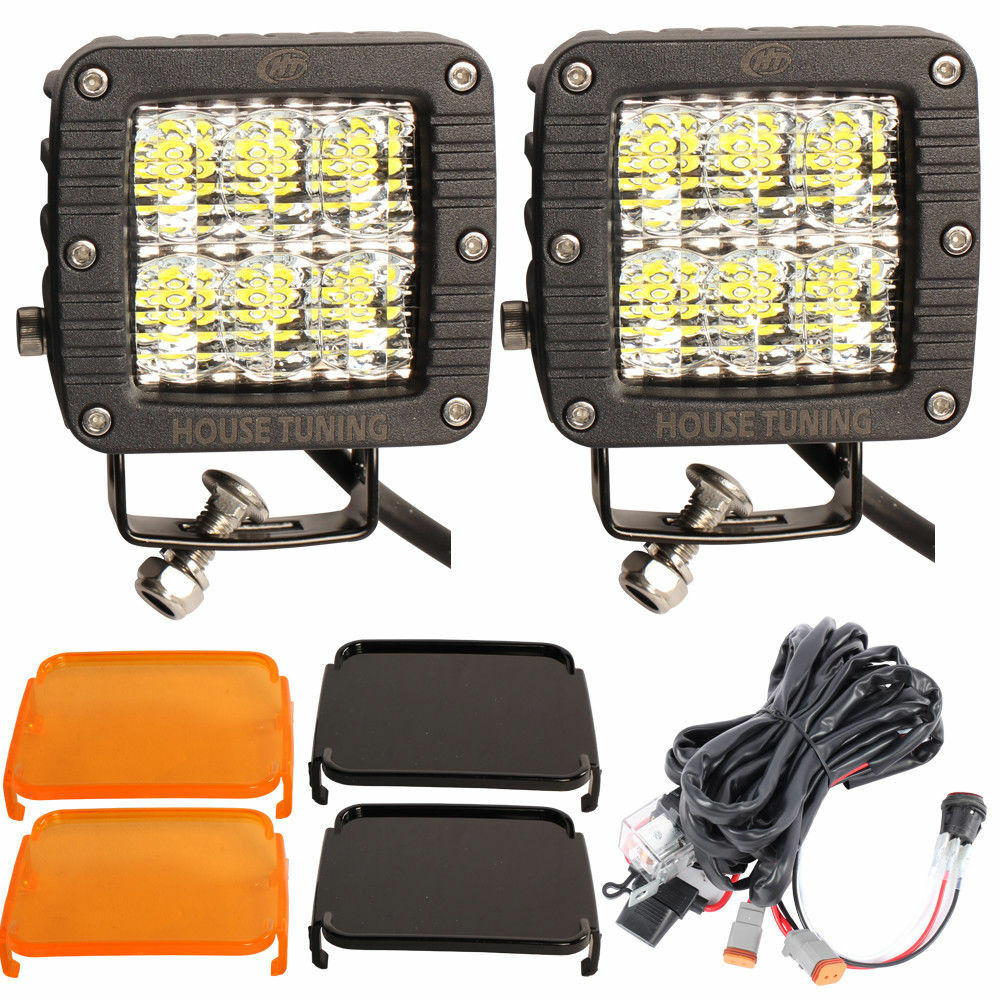 medium resolution of details about house tuning 3inch led pods 60w diffused flood beam wiring harness for off road
