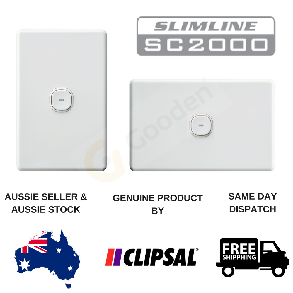 hight resolution of details about clipsal slimline impress push button 1 gang light switch blue led