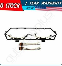details about fits 94 97 powerstroke 7 3l valve cover gasket w fuel injector glow plug harness [ 1000 x 1000 Pixel ]