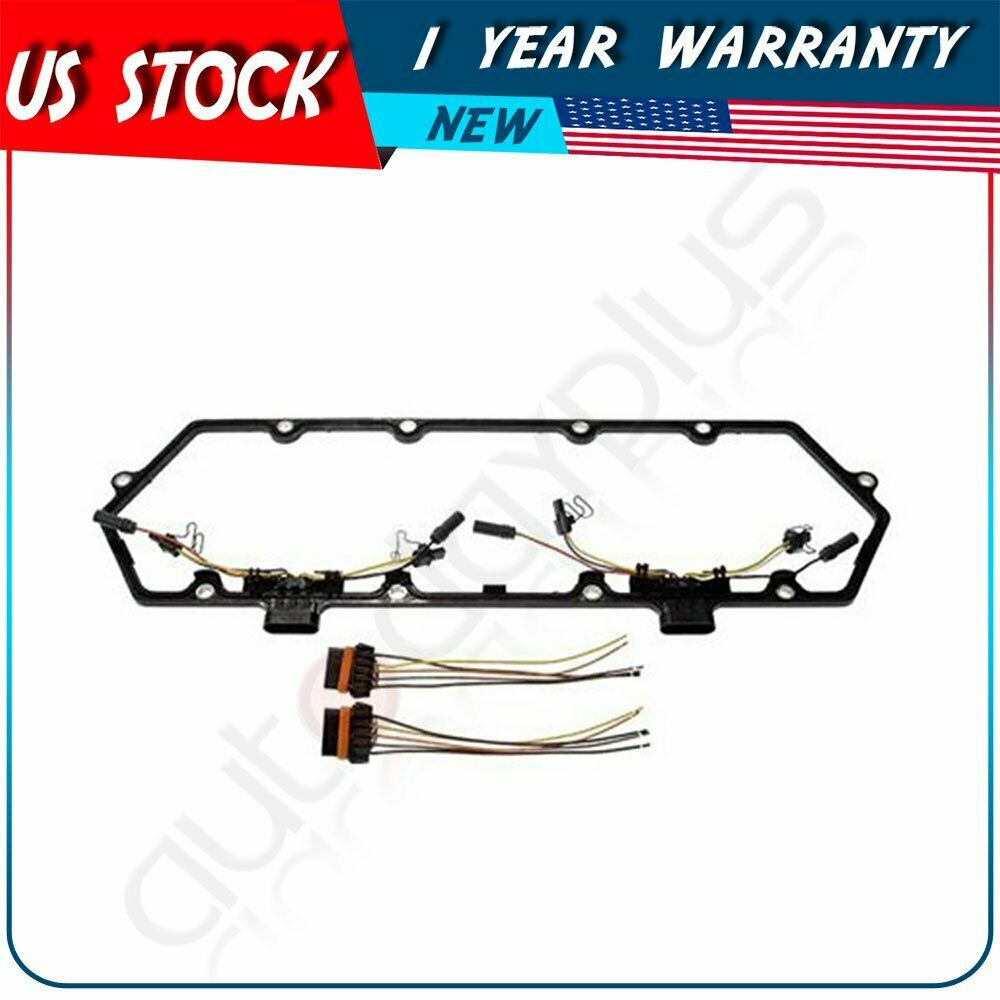 hight resolution of details about fits 94 97 powerstroke 7 3l valve cover gasket w fuel injector glow plug harness