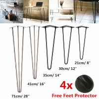 DIY 4X Hairpin Table Legs 3 Rod Fully Welded 12mm Steel ...