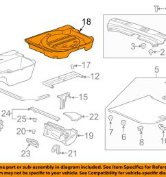 details about cadillac gm oem 10 16 srx interior rear spare cover 22819384 [ 1000 x 798 Pixel ]
