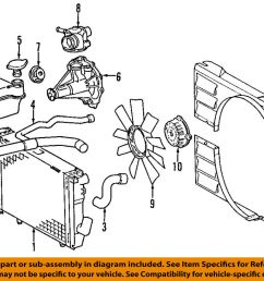 mercedes oem 94 95 e420 engine coolant thermostat housing 1192011030 e420 engine diagram [ 1000 x 821 Pixel ]