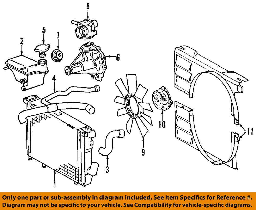 medium resolution of mercedes oem 94 95 e420 engine coolant thermostat housing 1192011030 e420 engine diagram