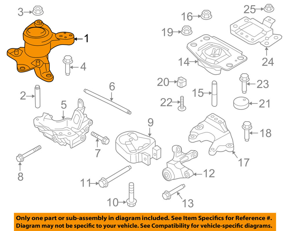 hight resolution of details about ford oem 13 16 fusion engine motor mount torque strut bg9z6038a