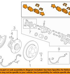 details about honda oem 17 18 cr v brake rear disc brake pads 43022tlaa00 [ 1000 x 798 Pixel ]