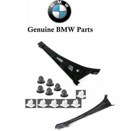 details about front windshield cowl cover genuine bmw sedan e36 325i 318i 328i m3 [ 862 x 966 Pixel ]