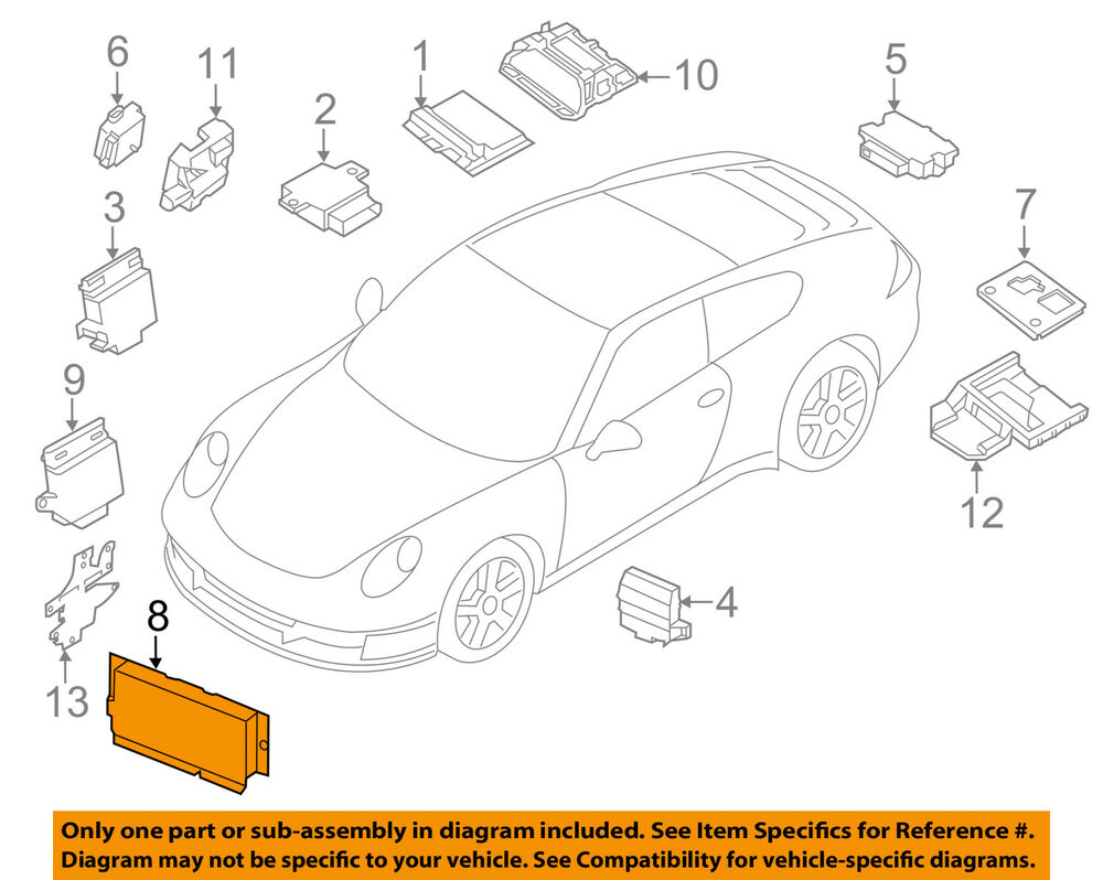 hight resolution of details about porsche oem 14 18 911 electrical control module 99161810710