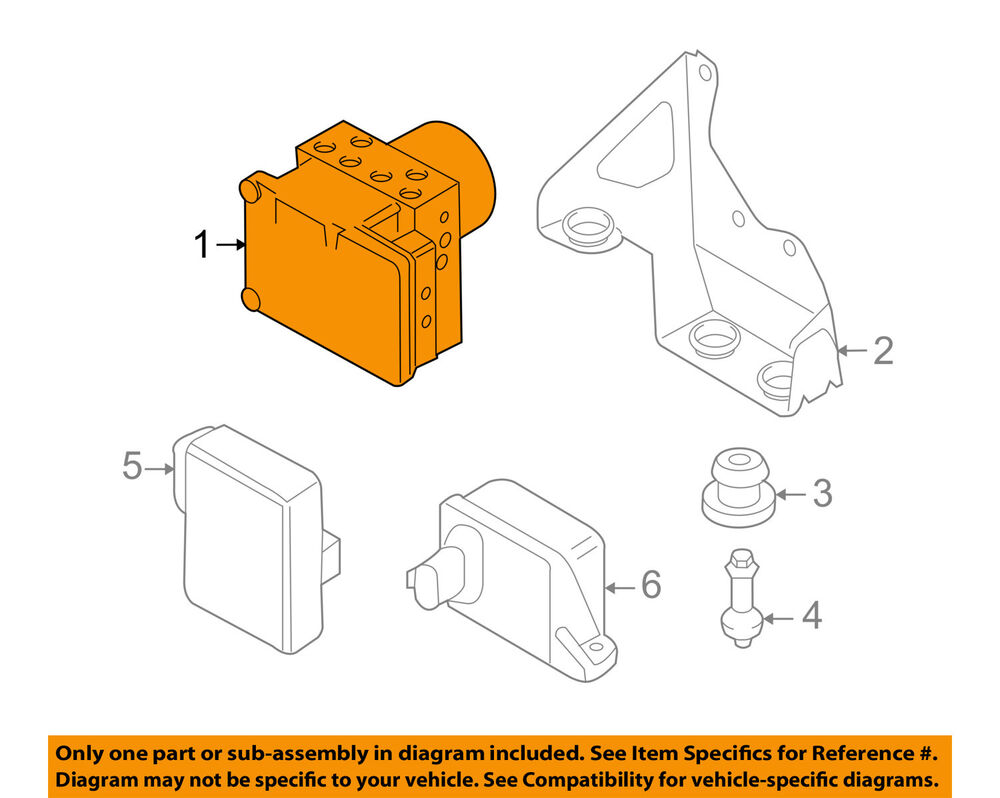 hight resolution of details about vw volkswagen oem abs anti lock brake system control module 7l0614517cbef