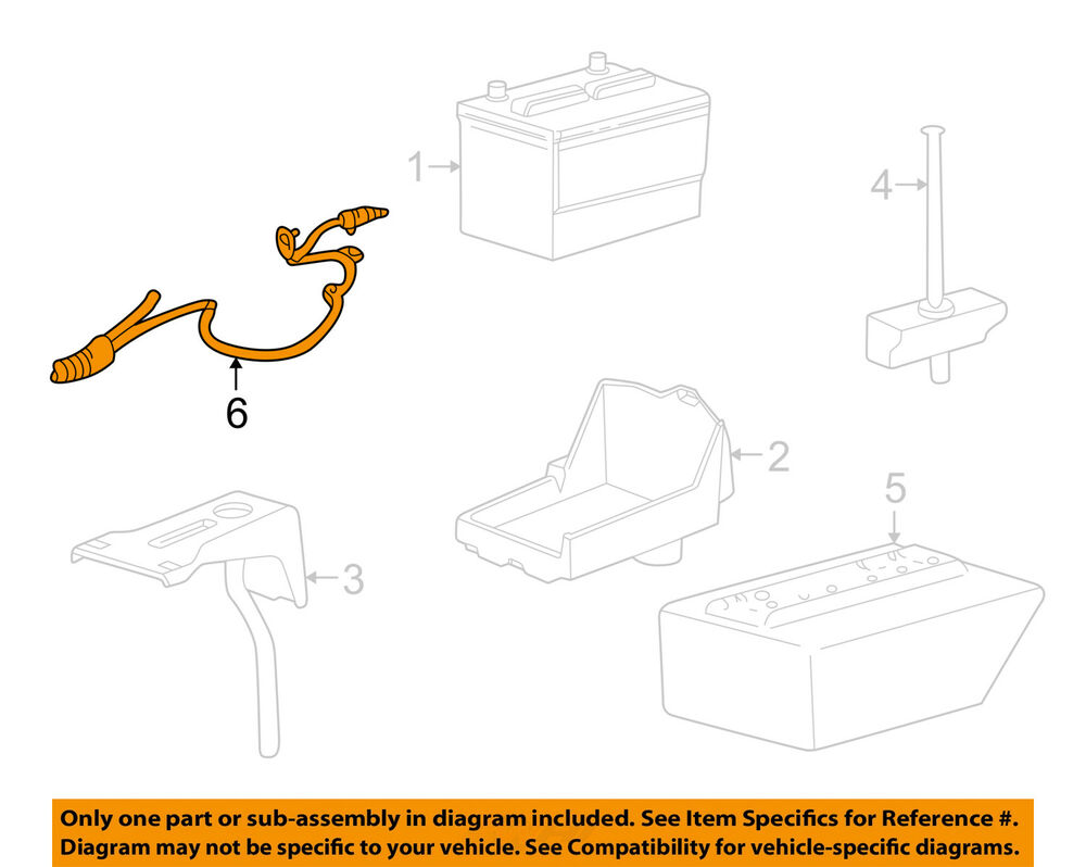 medium resolution of details about ford oem 2009 mustang battery cable 9r3z14300ca