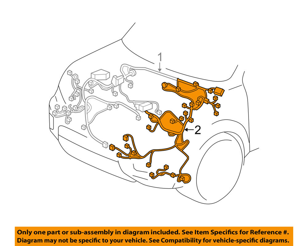 hight resolution of details about honda oem 17 18 pilot 3 5l engine control module wiring harness left 32120tg8a21