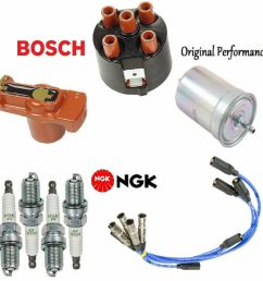 details about tune up kit wire set plugs cap rotor fuel filter vw volkswagen jetta 2 0l 93 99 [ 996 x 1000 Pixel ]