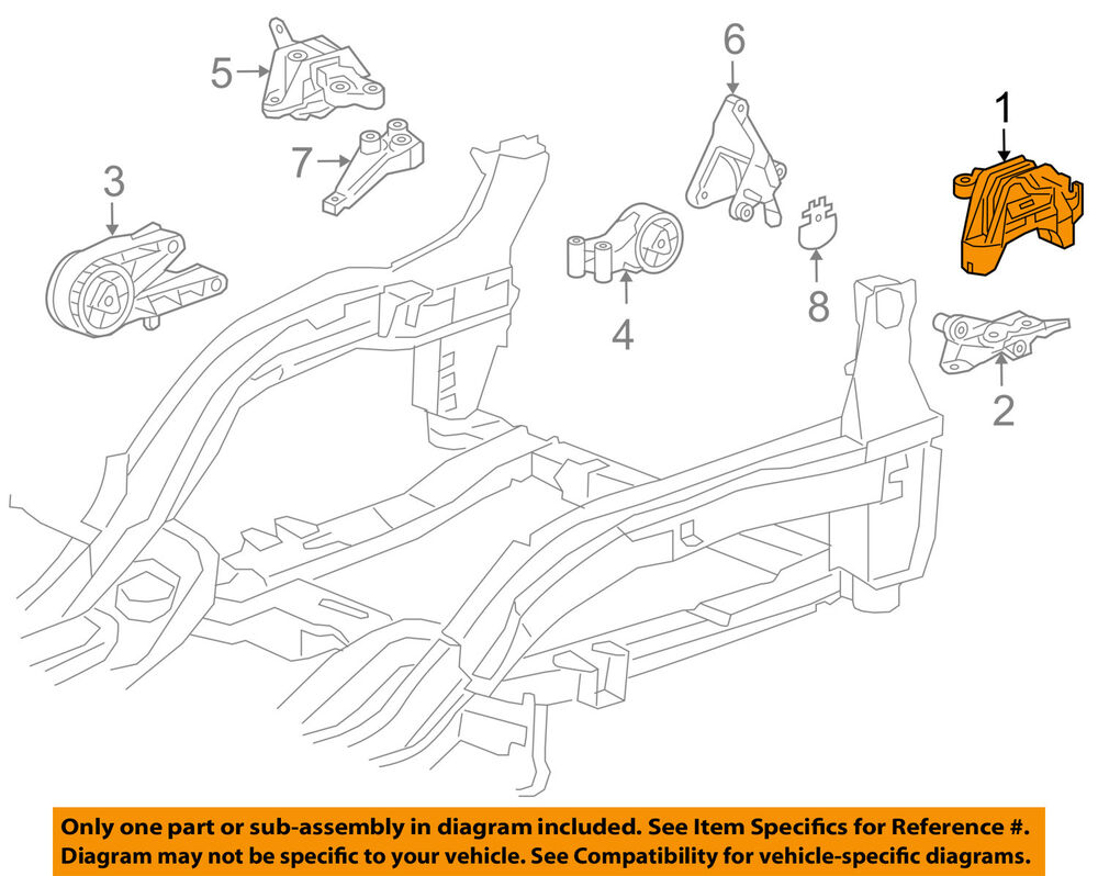 hight resolution of details about chevrolet gm oem 11 15 cruze engine motor mount torque strut 13347453