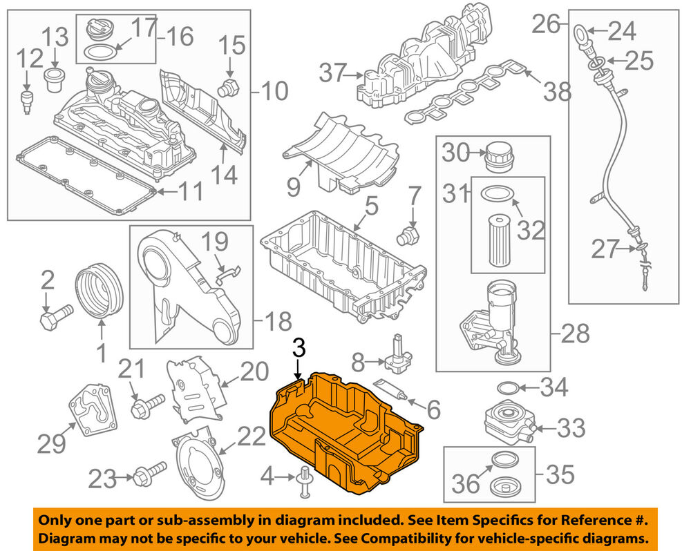 medium resolution of details about vw volkswagen oem 10 14 jetta engine parts cover 03l103660c