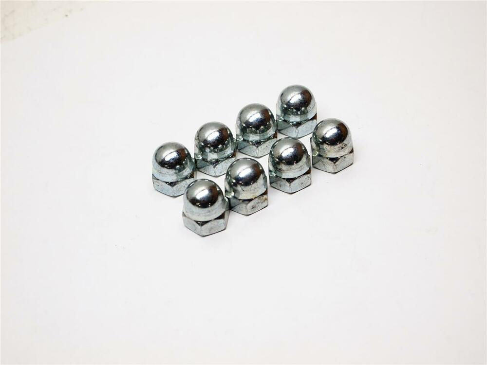(8) 8MM X 1.25 Pitch Metric Acorn Nuts New CB350 cylinder