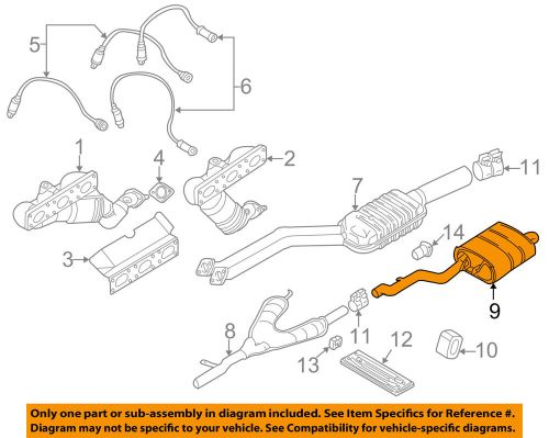 small resolution of details about bmw oem 2000 528i 2 8l l6 muffler 18107500184