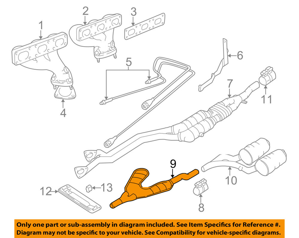 hight resolution of details about bmw oem 97 98 528i 2 8l l6 exhaust intermediate pipe 18101436532