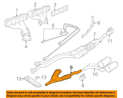 small resolution of details about bmw oem 97 98 528i 2 8l l6 exhaust intermediate pipe 18101436532