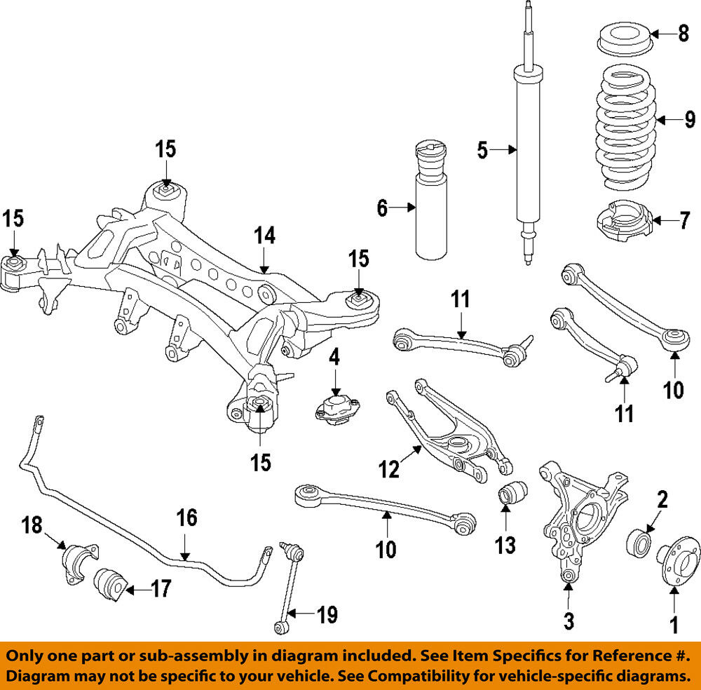medium resolution of details about bmw oem 15 18 m3 rear lower control arm 33322284533