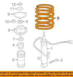 details about bmw oem 07 13 x5 rear suspension spring 33536773056 [ 1000 x 798 Pixel ]