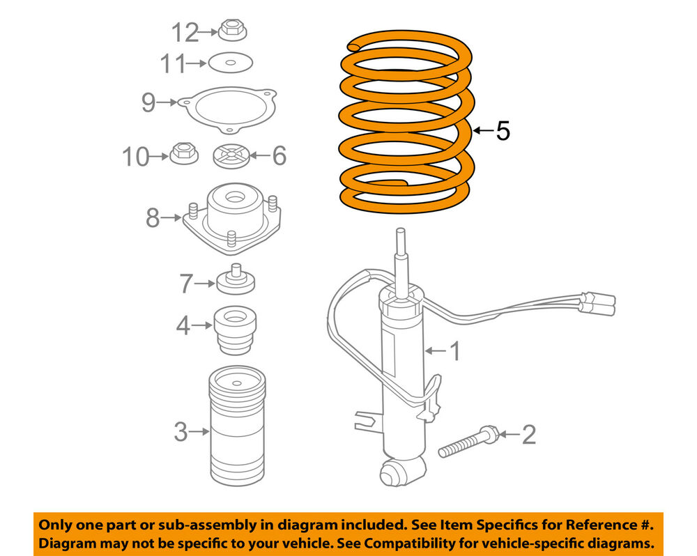 medium resolution of details about bmw oem 07 13 x5 rear suspension spring 33536773056