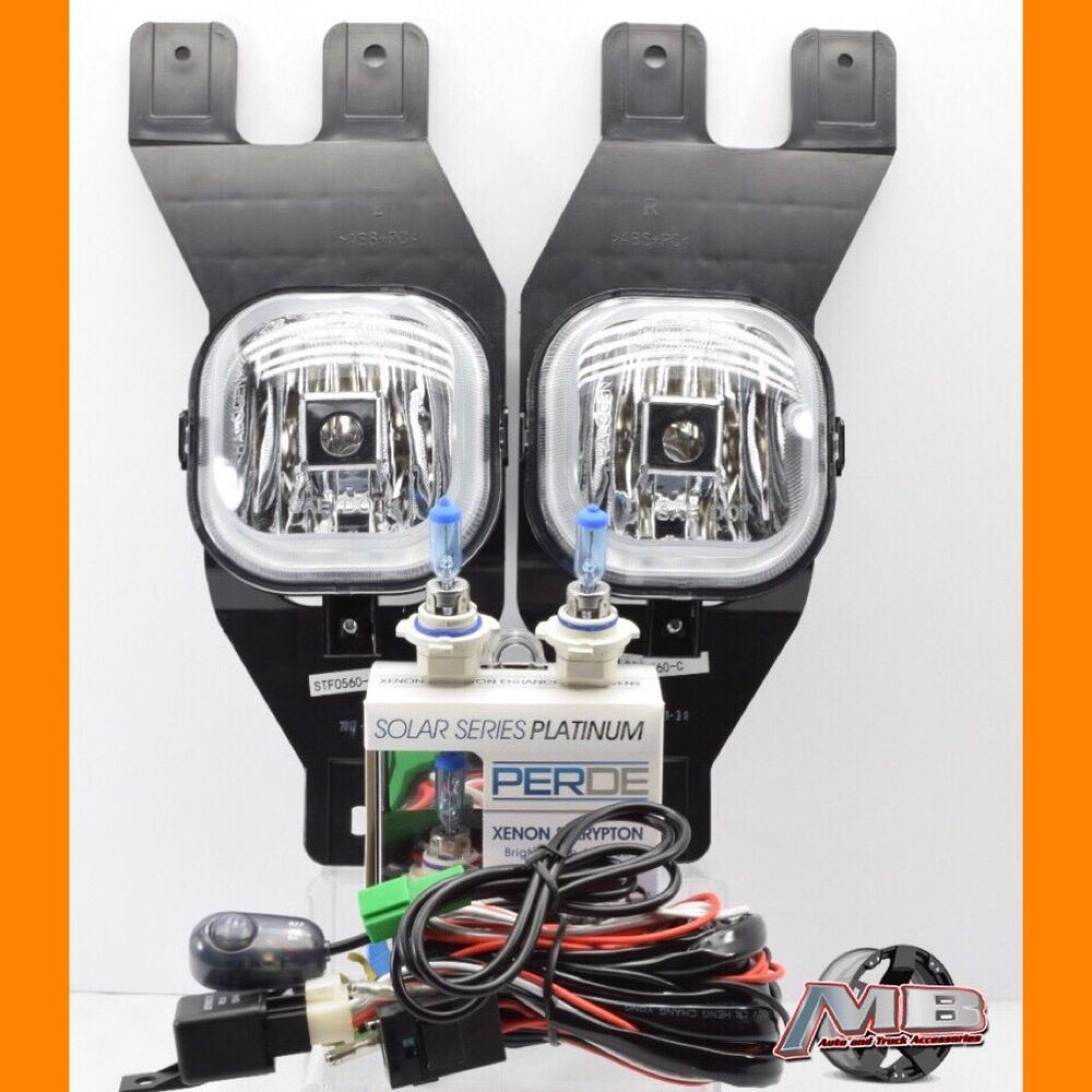 hight resolution of details about for 01 02 03 04 ford excursion clear fog lights kit wiring switch perde h10